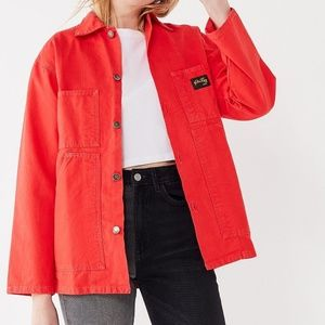 NEW Stan Ray orange red button shop jacket M